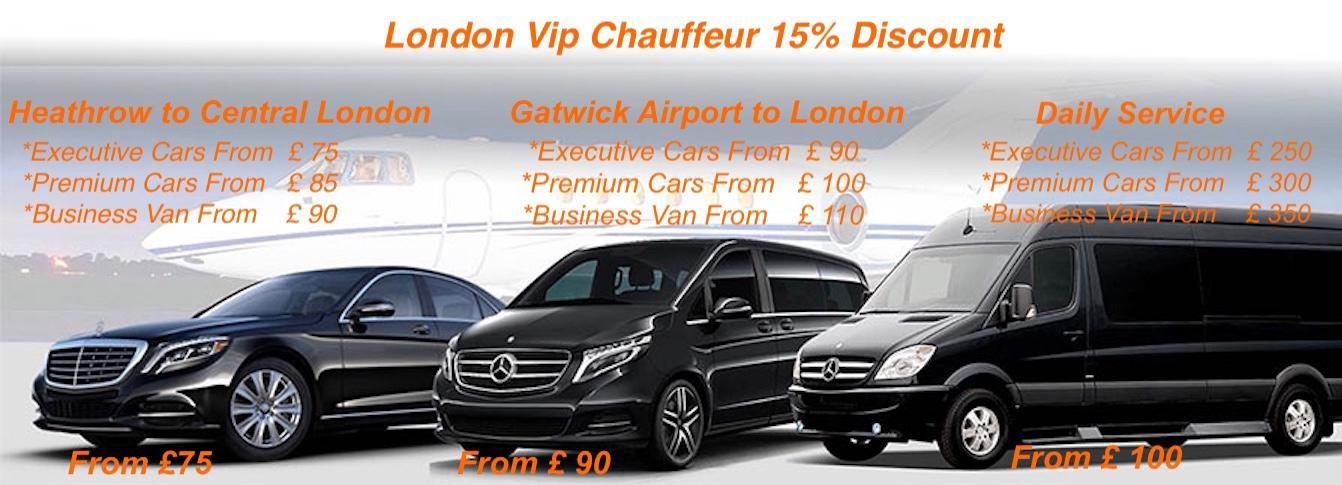 london vip chauffeur discounts